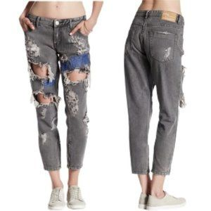 One Teaspoon   NWT Cropped Freebirds Trashed Jeans
